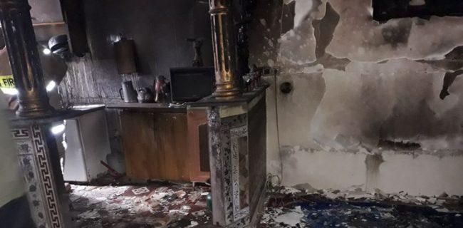 اتصال برق، منزل مسکونی در سنندج را به آتش کشید