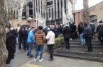 تجمع مغازه داران خیابان فردوسی جلوی استانداری
