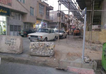 خیابان نوروز سنندج یک شبه مسدود شد/تداوم ندانم کاری مدیران شهری