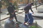 غبارروبی و عطر افشانی مزار شهدای کردستان توسط هنرمندان