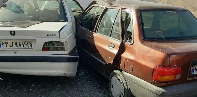بی احتیاطی و سرعت غیرمجاز ۹ نفر را روانه بیمارستان کرد
