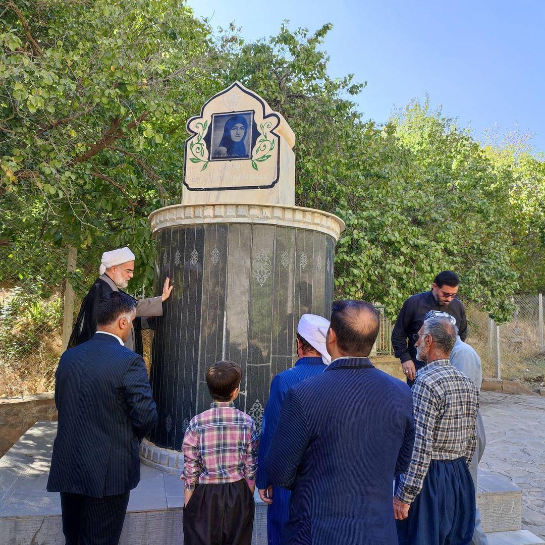 نماینده ولیفقیه در کردستان از یادمان شهیده ناهید فاتحی کرجو بازدید کرد
