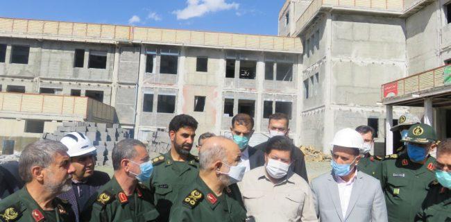 بازدید فرمانده کل سپاه پاسداران از بیمارستان در حال ساخت شهید قاضی سنندج