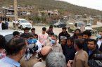 حضور فرمانده سپاه بیت المقدس کردستان در منطقه زلزله زده مریوان و روستاهای جشنی آباد قلقله