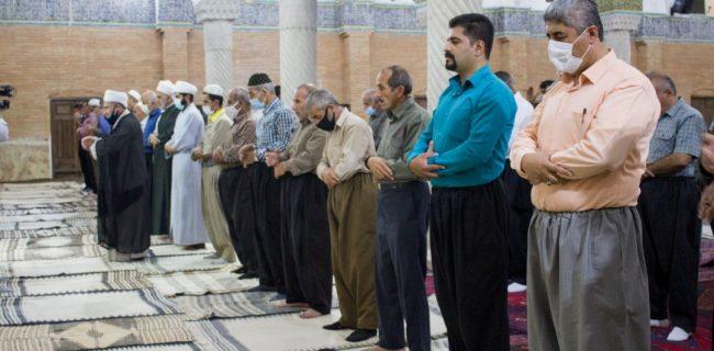 اقامه نماز عید قربان در سنندج